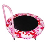 "Jumpking Bazoongi 48"" Camo Pink Round Bouncer Trampoline"