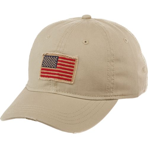 Academy Sports + Outdoors™ Men's Flag Distressed Baseball Hat