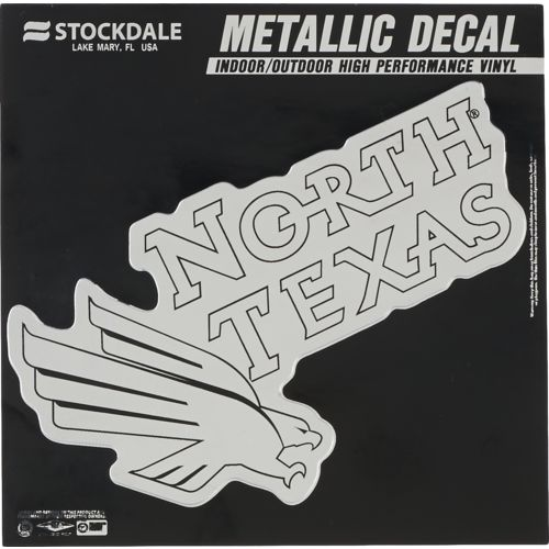 "Stockdale University of North Texas 6"" x 6"" Metallic Vinyl Die-Cut Decal"