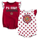 NCAA Infant Girls' University of Louisiana at Lafayette Polka Fan Creepers 2-Pack