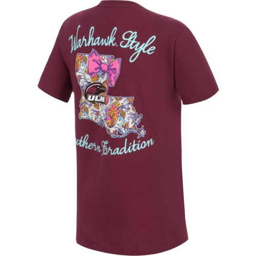 New World Graphics Women's University of Louisiana at Monroe Bright Bow T-shirt