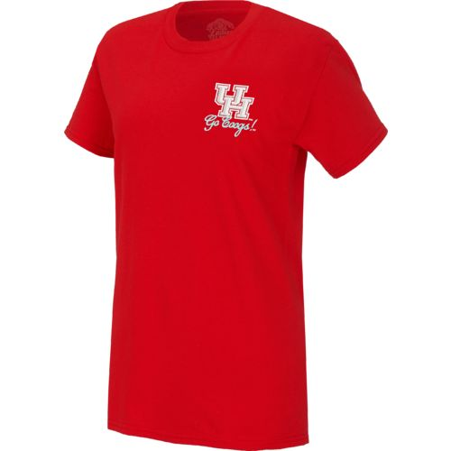 New World Graphics Women's University of Houston Bright Bow T-shirt