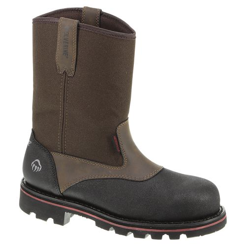 Wolverine Men's Drillbit Oil Rigger Steel-Toe EH Wellington Work Boots