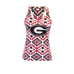 Chicka-d Women's University of Georgia Aztec Burnout Tank Top