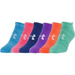 Under Armour® Women's Essential Twist No-Show Socks 6-Pack