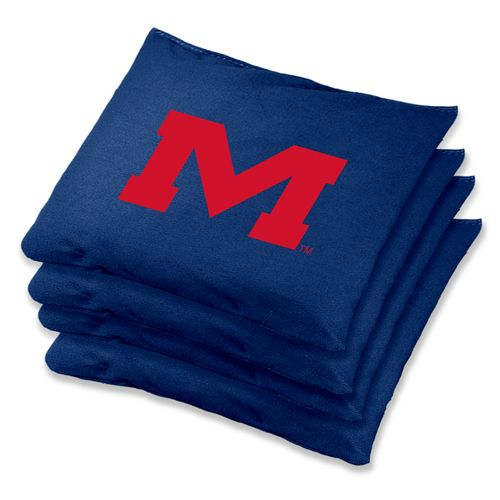 Wild Sports University of Mississippi Regulation Beanbags 4-Pack