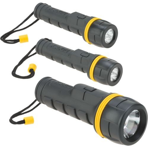 Dorcy Rubber Series LED Flashlights 3-Pack