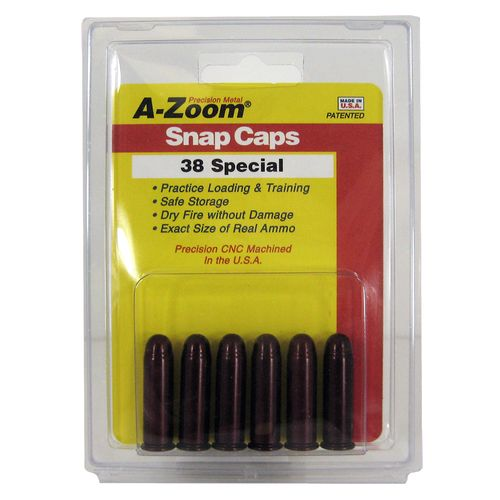 A-Zoom .38 Special Aluminum Snap Caps 6-Pack