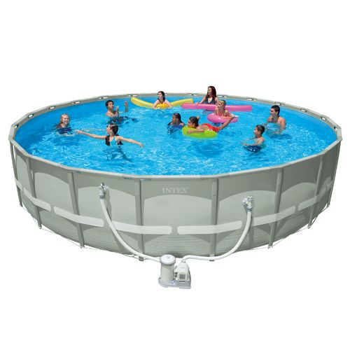 Intex 22 39 X 52 Ultra Frame Pool Set With 2 500 Gal Filter Pump Academy