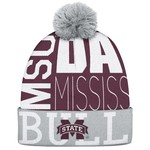 adidas Men's Mississippi State University Cuffed Pom Knit Hat