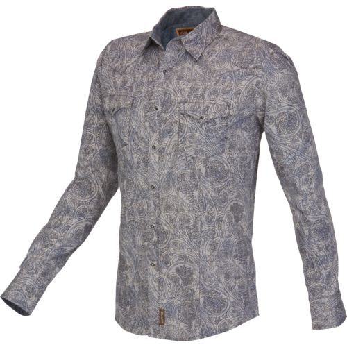 Wrangler® Men's Retro® Long Sleeve Spread Collar Shirt