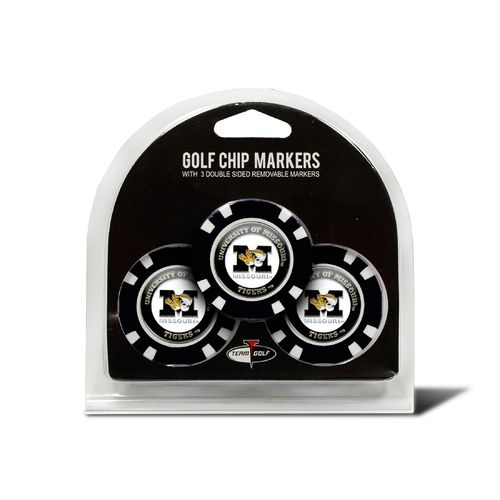 Team Golf University of Missouri Poker Chip and Golf Ball Marker Set