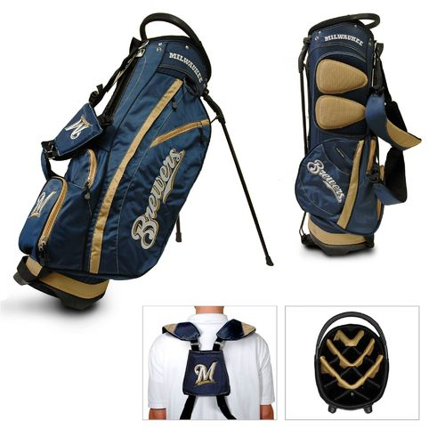 Team Golf Milwaukee Brewers Fairway 14-Way Stand Golf Bag