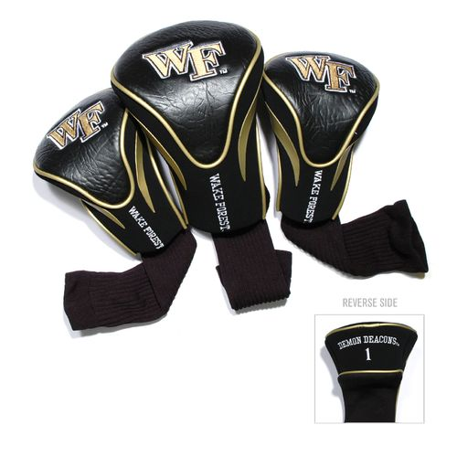 Team Golf Wake Forest University Contour Sock Head Covers 3-Pack