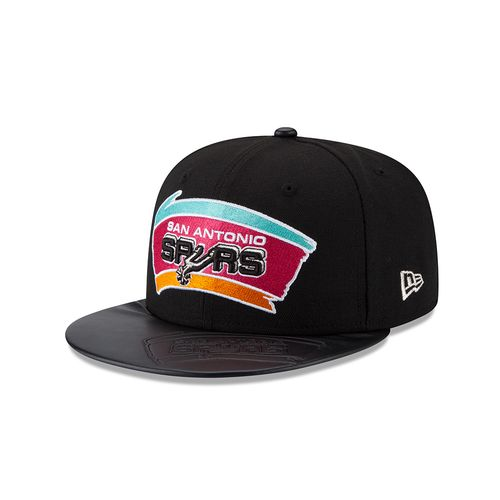 New Era San Antonio Spurs 59FIFTY Leather Stamped Cap