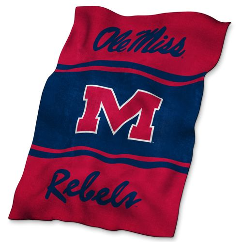 Logo™ University of Mississippi Ultrasoft Blanket - view number 1