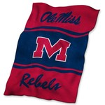 Logo University of Mississippi Ultrasoft Blanket