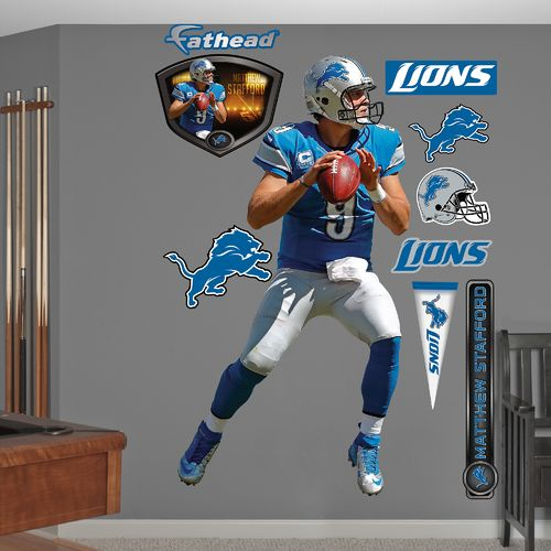 Fathead Detroit Lions Matthew Stafford Home Real Big Wall Decal
