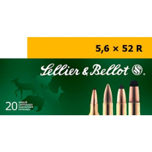 Sellier & Bellot 5.6mm x 52 R 70-Grain Full Metal Jacket Centerfire Rifle Ammunition