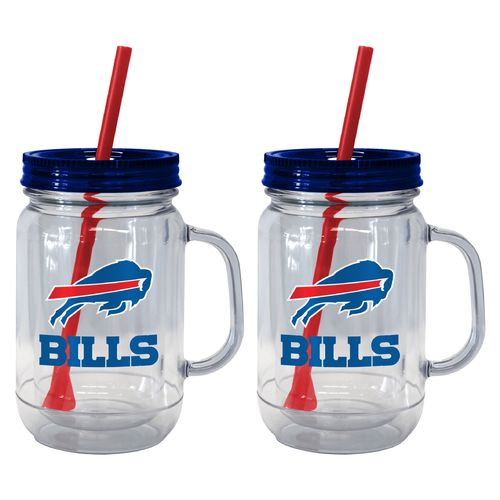 Boelter Brands Buffalo Bills 20 oz. Handled Straw Tumblers 2-Pack