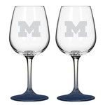 Boelter Brands University of Michigan 12 oz. Wine Glasses 2-Pack - view number 1