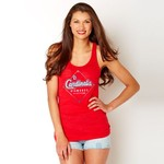 Soft As A Grape Women's St. Louis Cardinals Diamonds Are a Girl's Best Friend Tank
