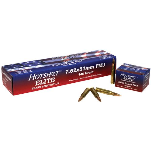 Century Arms Hotshot Elite .308 Win./7.62 NATO 146-Grain FMJ Centerfire Rifle Ammunition