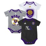 adidas™ Infants' Orlando City SC Creepers 3-Pack