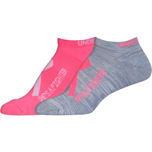 Under Armour Women's Power in Pink No-Show Socks