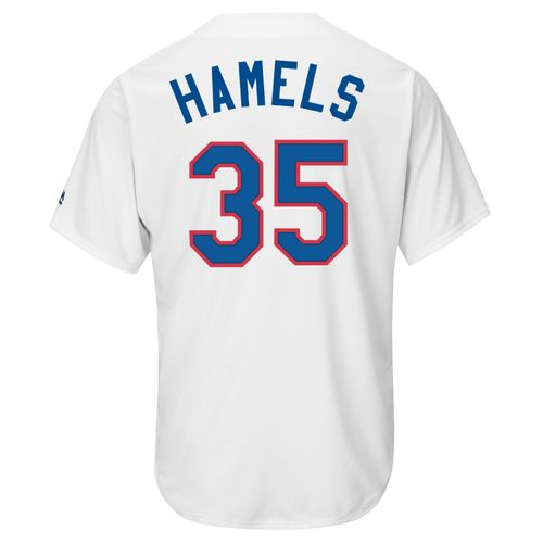 Majestic Men's Texas Rangers Cole Hamels #35 Cooperstown Cool Base Replica Jersey
