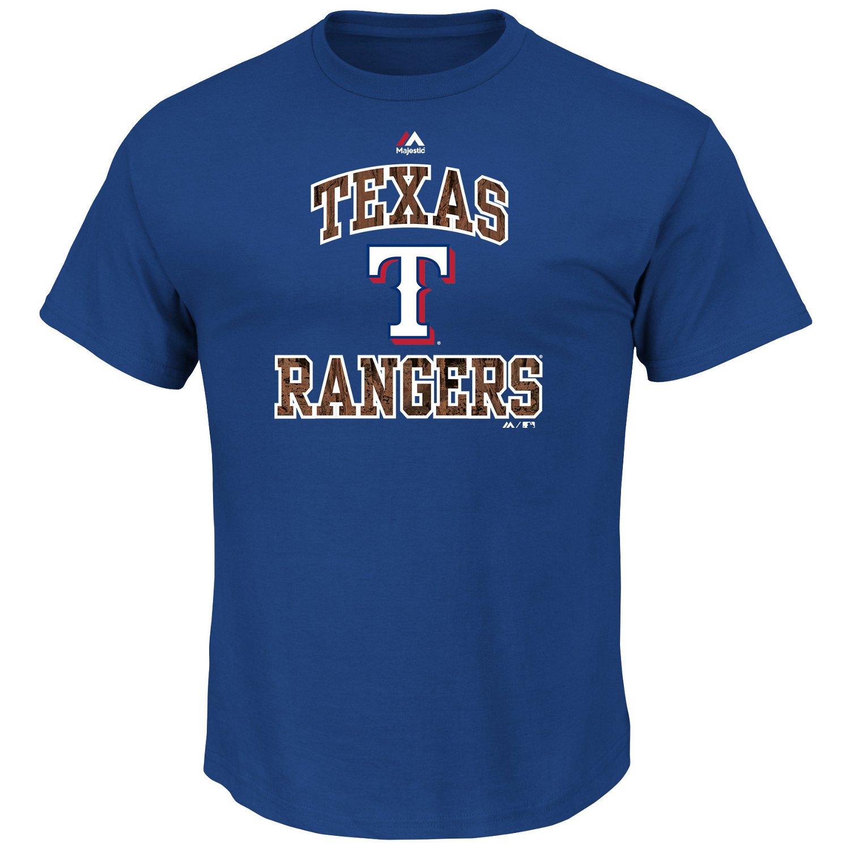 Majestic Men's Texas Rangers Inside the Box T-shirt