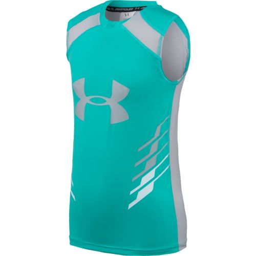 Display product reviews for Under Armour Boys' HeatGear Armour Up Fadeaway Fitted Tank Top