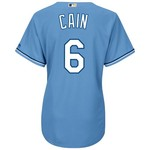Majestic Women's Kansas City Royals Lorenzo Cain #6 Cool Base Replica Alternate Jersey