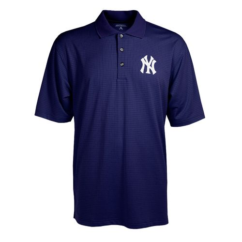 Antigua Men's New York Yankees Phoenix Pointelle Polo Shirt