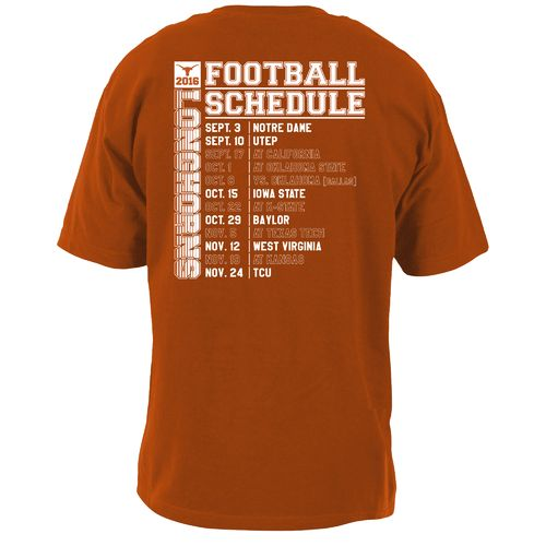 289c Apparel Men's University of Texas Schedule T-shirt