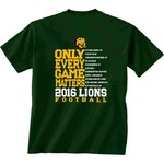 New World Graphics Men's Southeastern Louisiana University Schedule T-shirt
