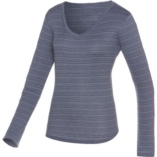 BCG™ Women's Horizon Ombré Stripe V-neck Long Sleeve T-shirt