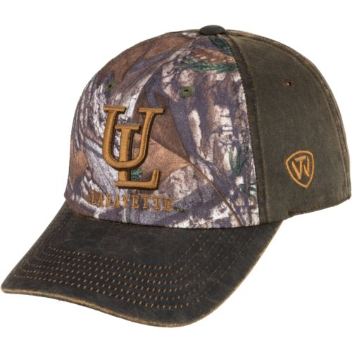 Top of the World Men's University of Louisiana at Lafayette Driftwood Cap