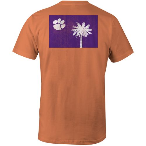 Image One Men's Clemson University State Flag Comfort Color T-shirt