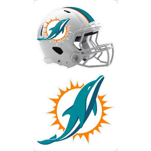 "Stockdale Miami Dolphins 4"" x 7"" Logo Decals 2-Pack"