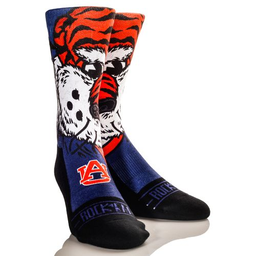 Rock 'Em Apparel Men's Auburn University Aubie Mascot Socks