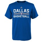 adidas™ Boys' Dallas Mavericks Practice Wear Graphic T-shirt
