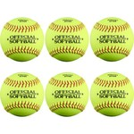 Academy Sports + Outdoors Youth 12 in Leather Softballs 6-Pack - view number 2