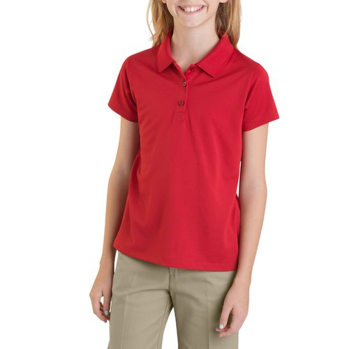 Dickies Girls' Performance Short Sleeve Polo Shirt