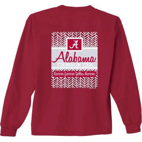 New World Graphics Women's University of Alabama Herringbone Long Sleeve T-shirt