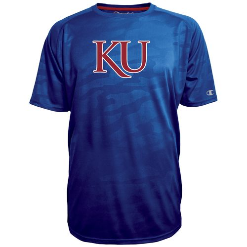 Champion™ Men's University of Kansas Fade Raglan T-shirt