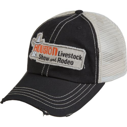 FireBrand Apparel Men's Houston Livestock Show and Rodeo Twill and Mesh Cap