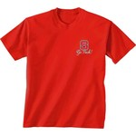 New World Graphics Women's North Carolina State University Bright Bow Short Sleeve T-shirt - view number 2