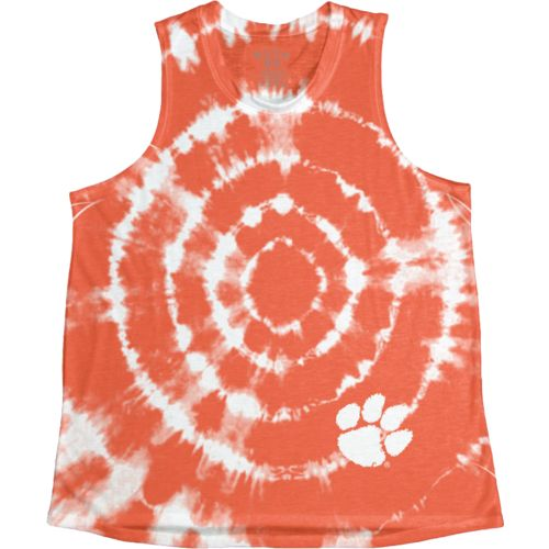 Blue 84 Women's Clemson University Retro Liquid Muscle Tank Top