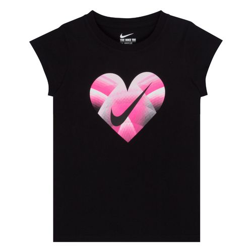 Nike Girls' Step Gradient Heart Short Sleeve T-shirt